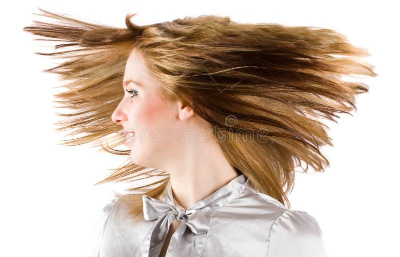 Mooi Blonde Het Wegknippen Haar Stock Foto