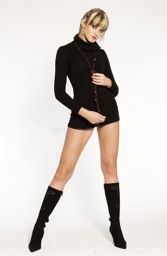 Mooi blonde model stock foto