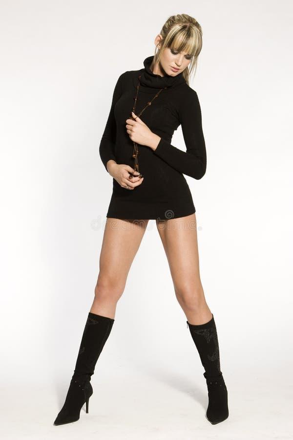 Mooi blonde model stock afbeeldingen