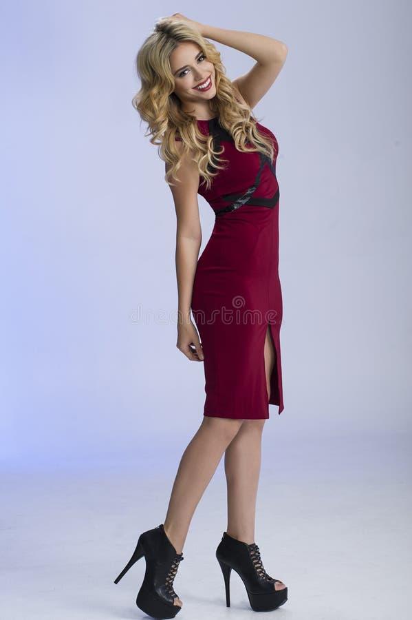 Mooi Blonde Volledig Lichaam stock fotografie