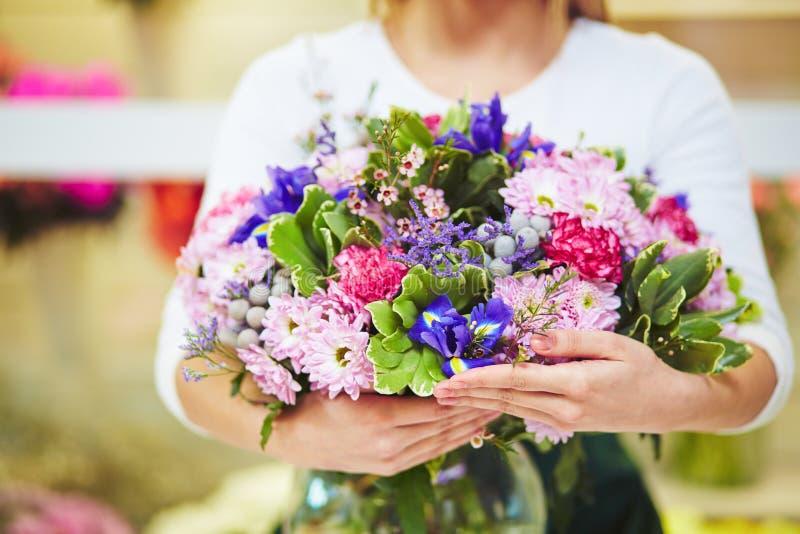 Mooi boeket van bloemen stock foto's