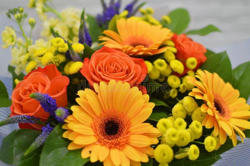 Mooi boeket van kleurrijke bloemen royalty-vrije stock foto's