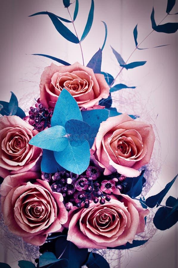 Mooi boeket van rozen royalty-vrije stock fotografie