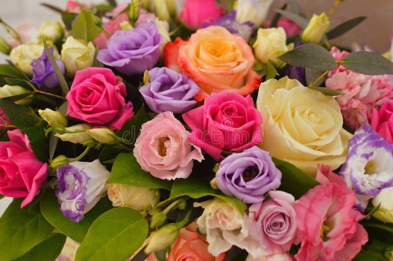 Mooi boeket van zachte bloemen royalty-vrije stock foto's