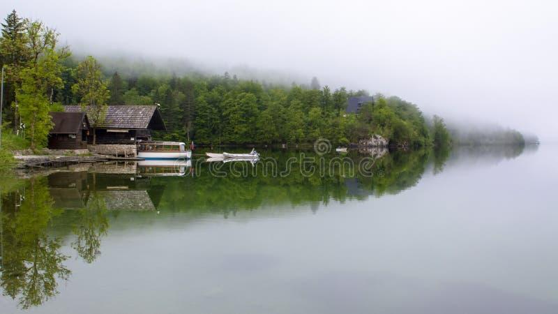 Mooi Bohinj-meer stock foto's