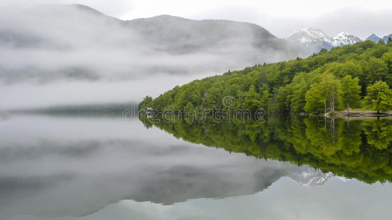 Mooi Bohinj-meer royalty-vrije stock foto's