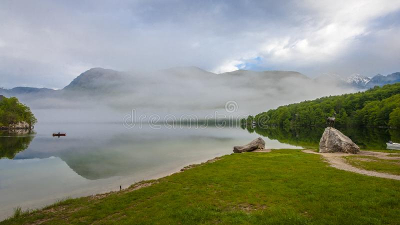 Mooi Bohinj-meer stock fotografie