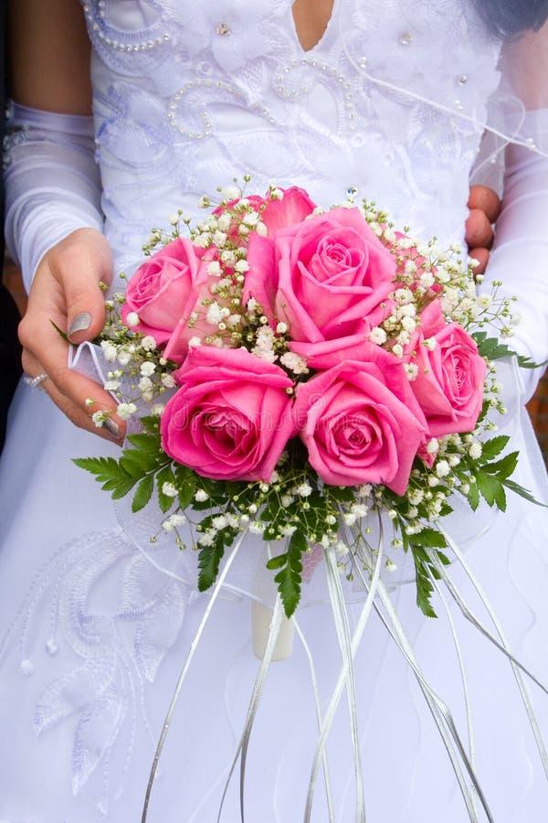 Mooi bruids boeket stock afbeelding