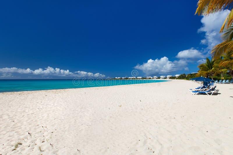 Mooi Caraïbisch strand stock afbeeldingen