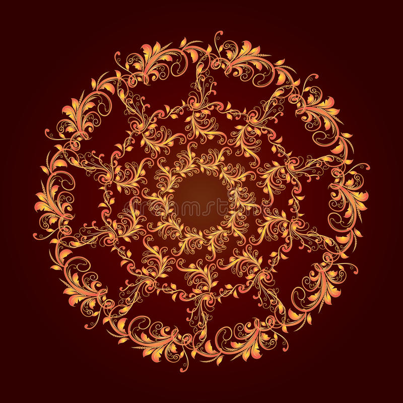 Mooi cirkelpatroon van bloemen royalty-vrije stock foto