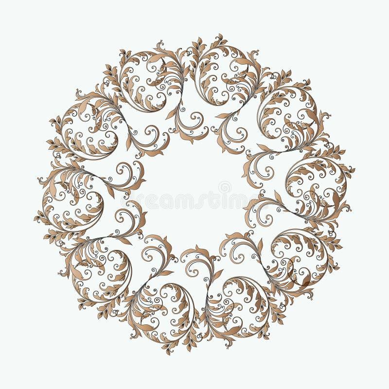 Mooi cirkelpatroon van bloemen stock afbeeldingen
