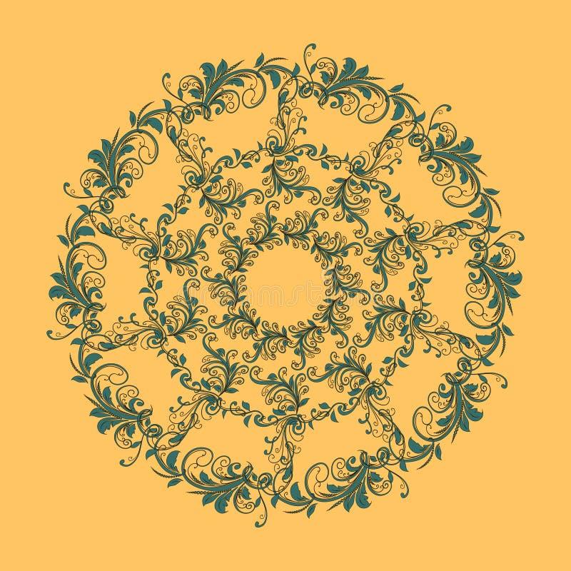 Mooi cirkelpatroon van bloemen stock fotografie