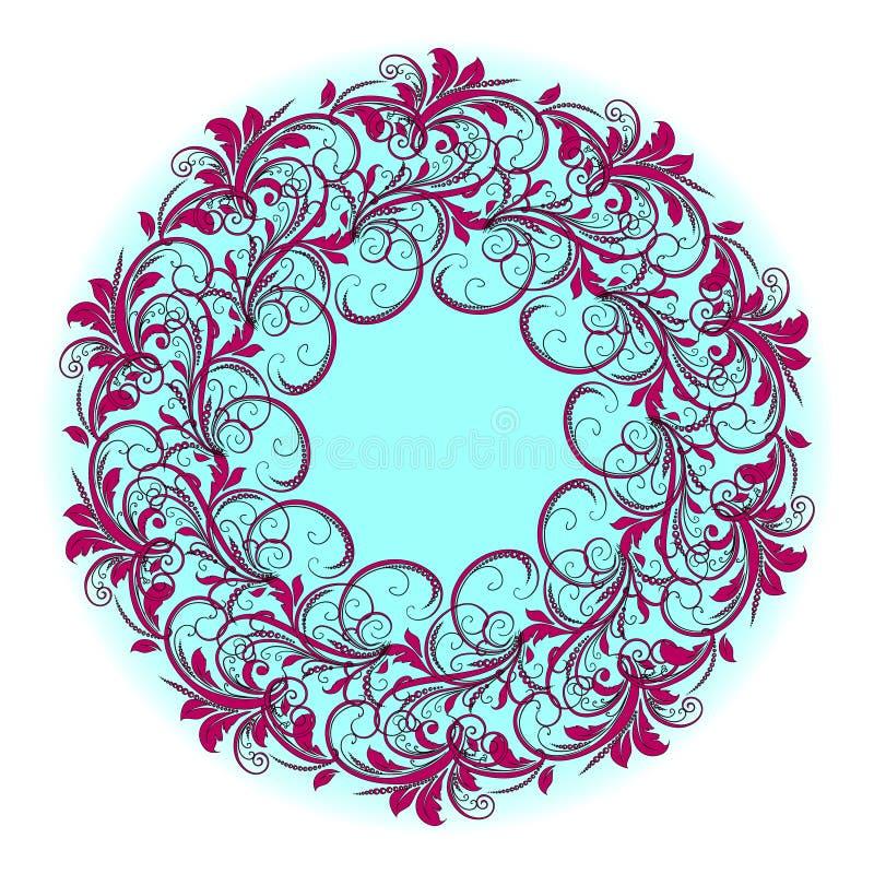 Mooi cirkelpatroon van bloemen royalty-vrije stock foto's