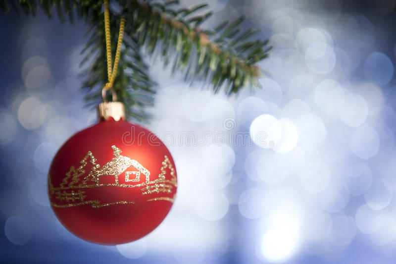 Mooi cristmasstuk speelgoed met met de hand gemaakte decoratie royalty-vrije stock foto