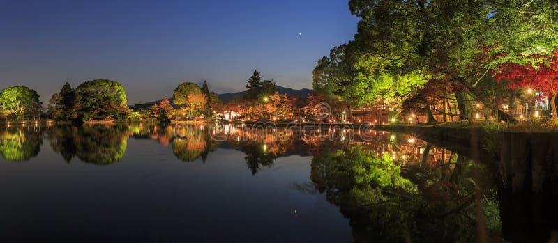 Mooi dalingslandschap rond Kyoto stock afbeeldingen