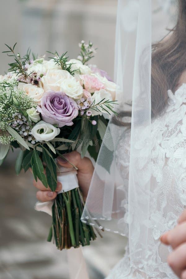 Mooi de Bloemboeket van het pastelkleurhuwelijk Bruids Bloem Decoratio royalty-vrije stock afbeeldingen