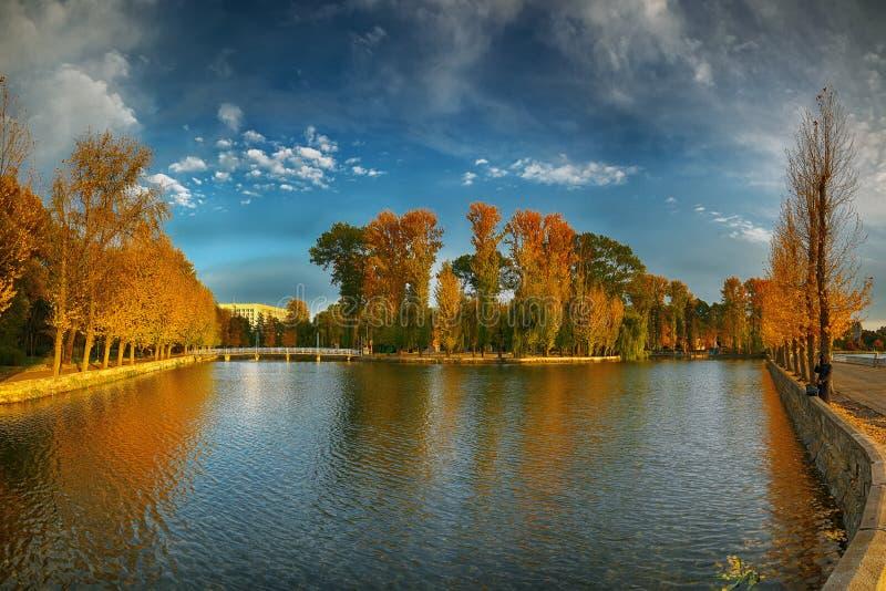 Mooi de herfstpark bij zonnig weer royalty-vrije stock fotografie