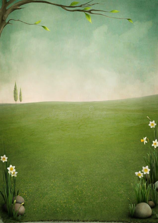 Mooi de lentelandschap vector illustratie