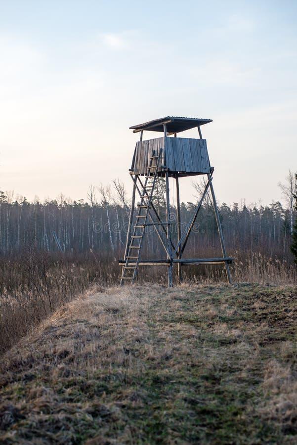 Download Mooi De Lentelandschap Met Watchtower In Bos Stock Afbeelding - Afbeelding bestaande uit rivier, gebied: 54077305