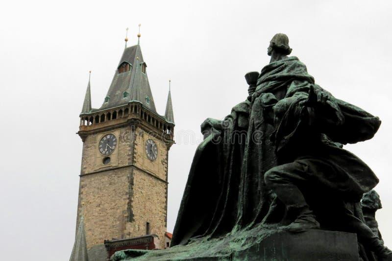 Mooi de Torenvierkant van Praag stock afbeelding