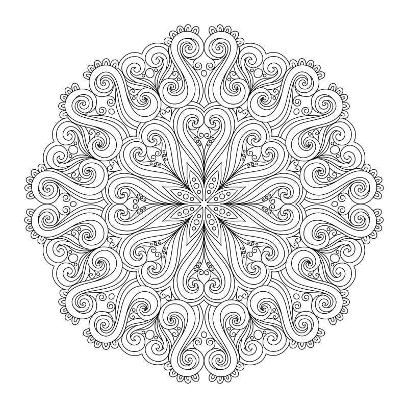 Mooi Deco Mandala (Vector) royalty-vrije illustratie