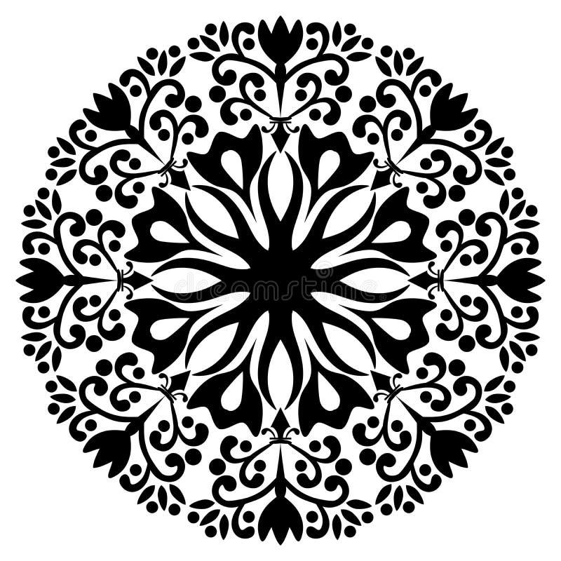 Mooi Deco Mandala Vector mandala Sier, Arabisch stock illustratie