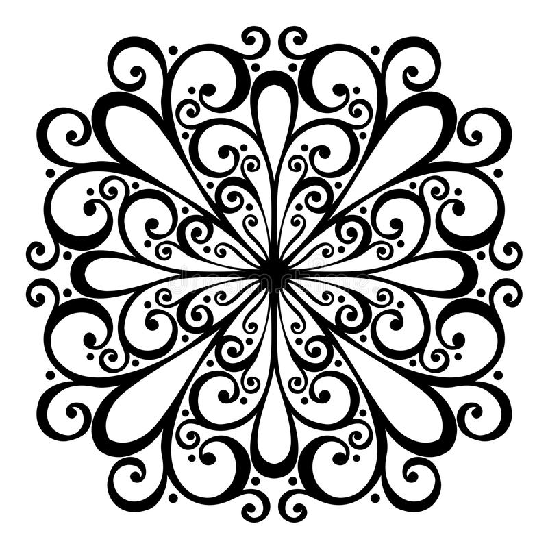 Mooi Deco-Vierkant (Vector) royalty-vrije illustratie