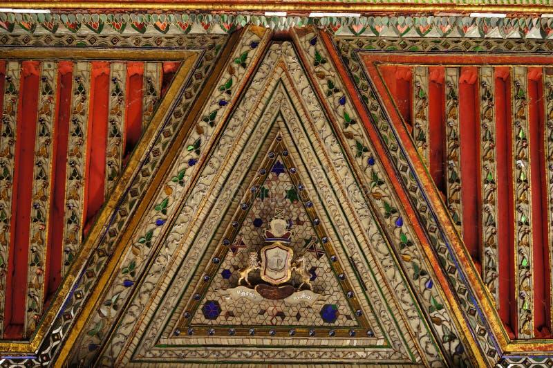 Mooi detail van Wat Phra Kaew Don Tao, Lampang, Noordelijk Th stock afbeelding