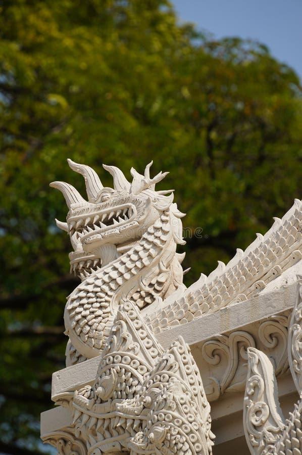 Mooi detail van Wat Phra Kaew Don Tao, Lampang, Thailand royalty-vrije stock afbeelding