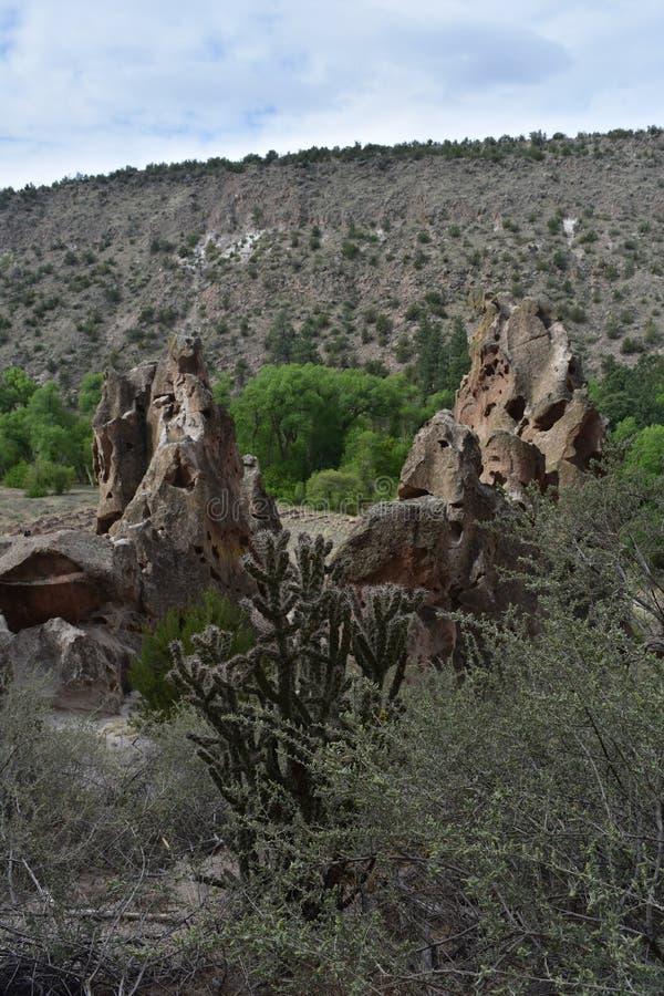 Mooi die Zandsteen door de Elementen in New Mexico wordt gevormd stock afbeeldingen