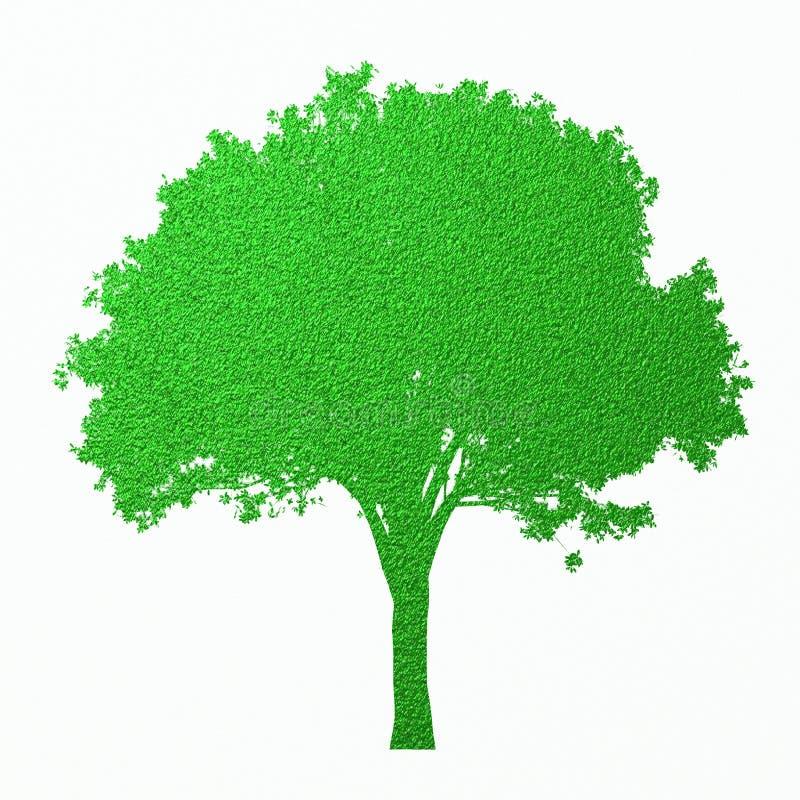 Mooi digitaal die textuurpatroon van boomsilhouet op witte achtergrond wordt geïsoleerd Creatieve samenvatting Het element van he royalty-vrije illustratie