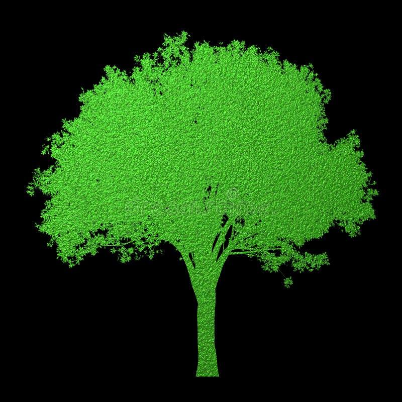 Mooi digitaal die textuurpatroon van boomsilhouet op zwarte achtergrond wordt geïsoleerd Creatieve samenvatting Het element van h royalty-vrije illustratie