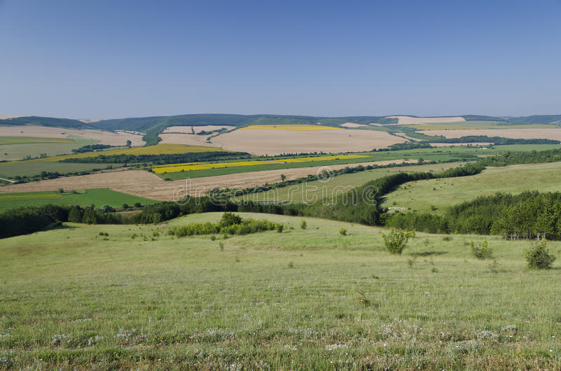 Mooi dorpslandschap in noordelijk Bulgarije royalty-vrije stock afbeeldingen