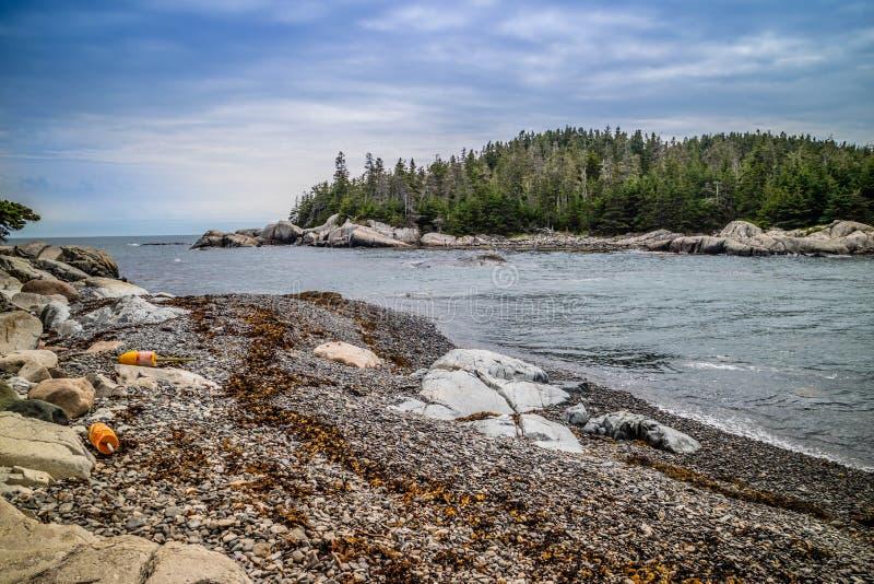 Mooi Duck Harbor Isle-Au Haut in het Nationale Park van Acadia, Maine royalty-vrije stock foto's