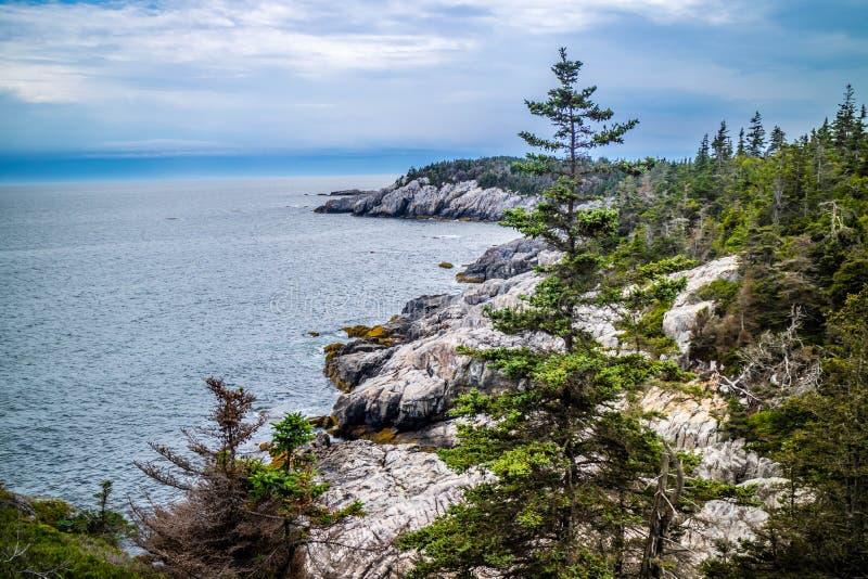 Mooi Duck Harbor Isle-Au Haut in het Nationale Park van Acadia, Maine royalty-vrije stock fotografie