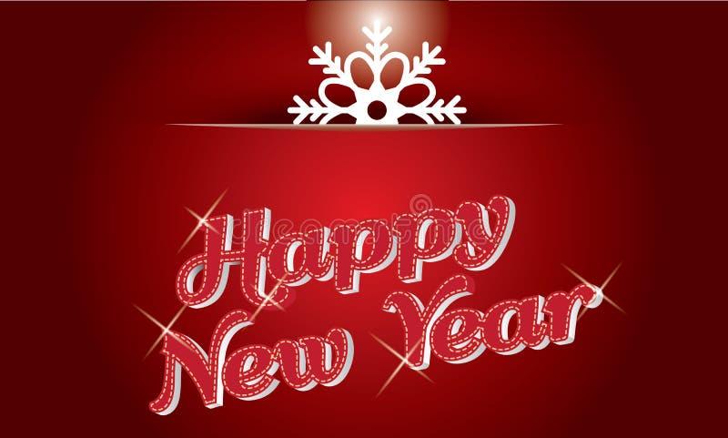 Mooi elegant tekstontwerp van gelukkig nieuw jaar Vector illustratie vector illustratie