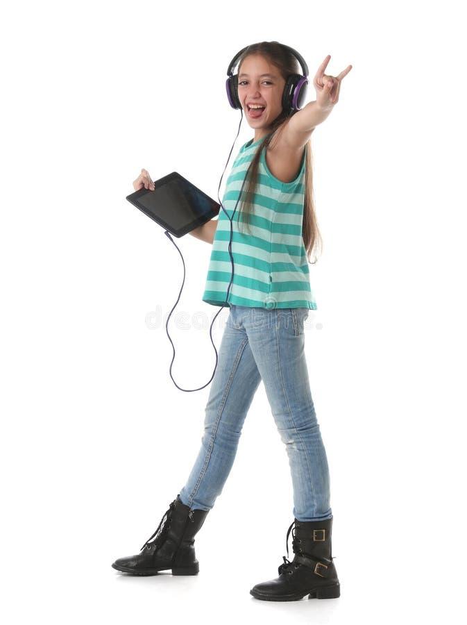 Download Mooi En Pre-tienermeisje Die Gek Dansen Gaan Stock Afbeelding - Afbeelding bestaande uit achtergrond, kaukasisch: 54083339
