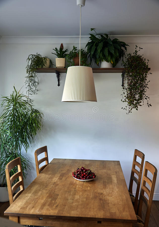 Mooi flat binnenlands, etnisch meubilair stock foto