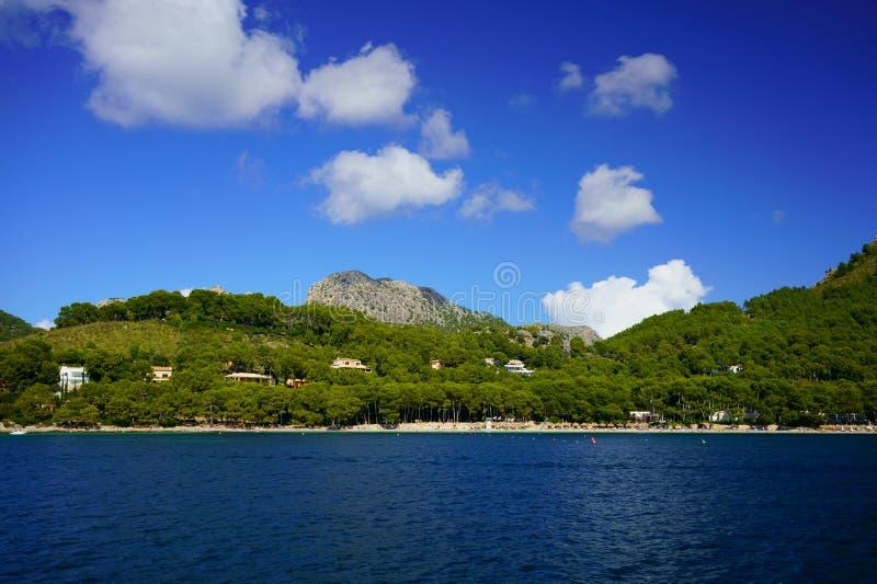 Mooi Formentor-strand dichtbij Port DE Pollensa, noordelijk Mallorca, de Balearen, Spanje royalty-vrije stock foto