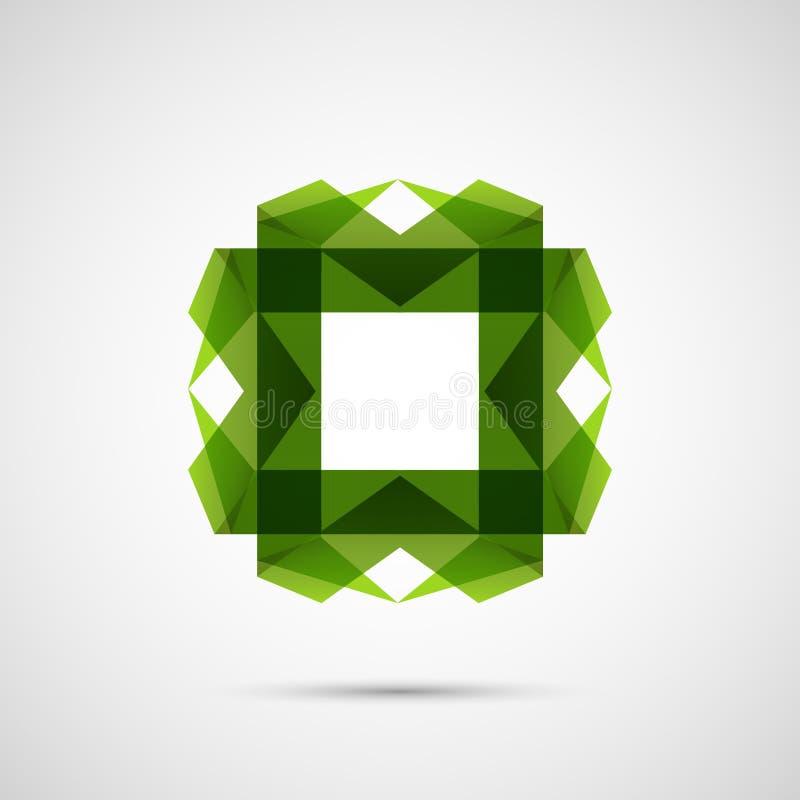 Mooi gekleurd origami creatief element Vector ontwerp stock illustratie