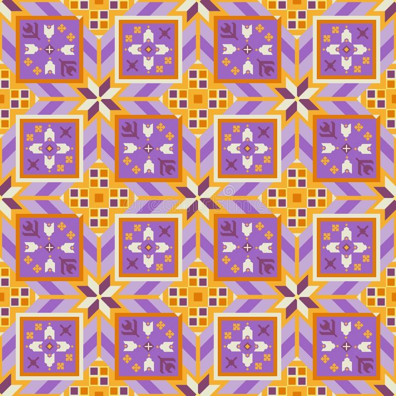 Mooi geometrisch naadloos patroon in de Bulgaarse stijl royalty-vrije illustratie