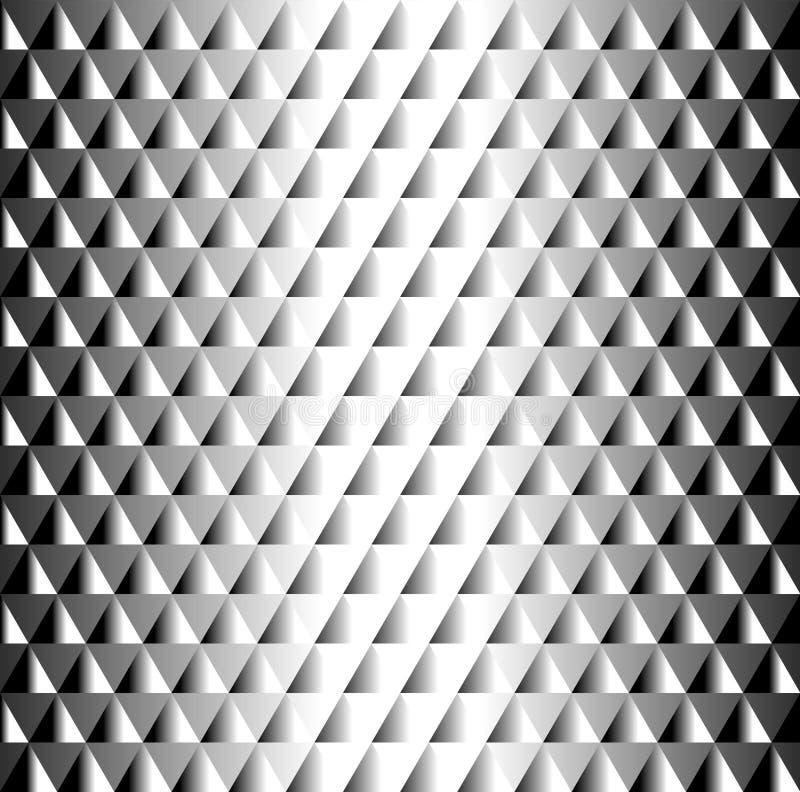Mooi geometrisch zwart-wit betegeld patroon van driehoeken royalty-vrije illustratie