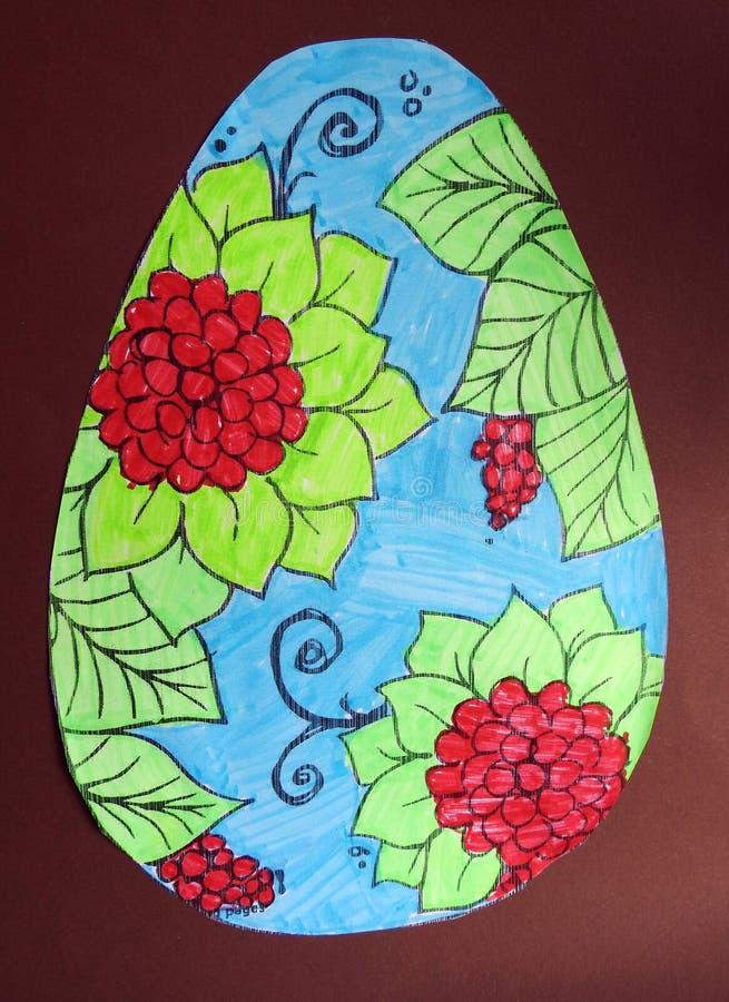 Mooi geschilderd paasei stock foto