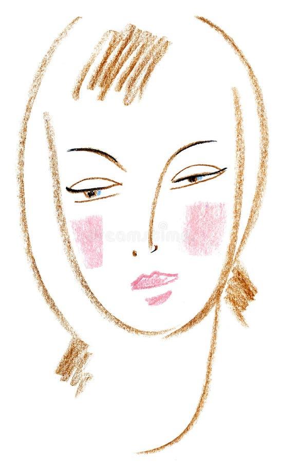 Mooi gezicht stock illustratie