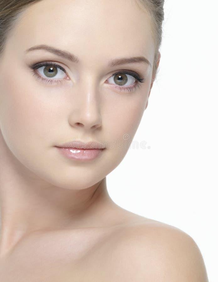 Mooi gezicht van jonge sexy vrouw royalty-vrije stock fotografie