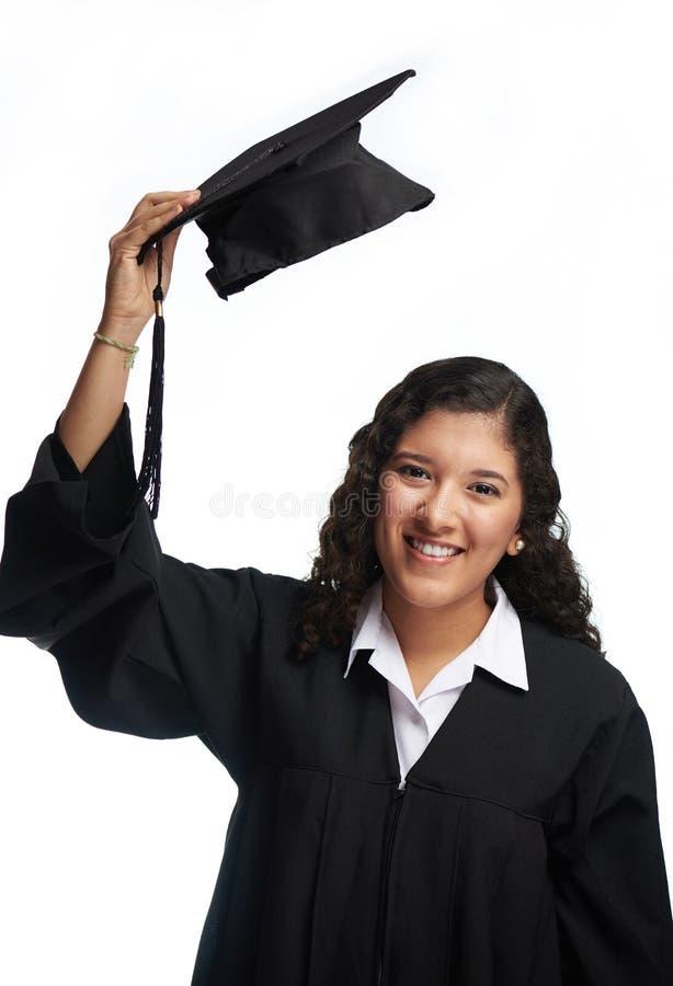 Mooi glimlachend studentenmeisje royalty-vrije stock foto
