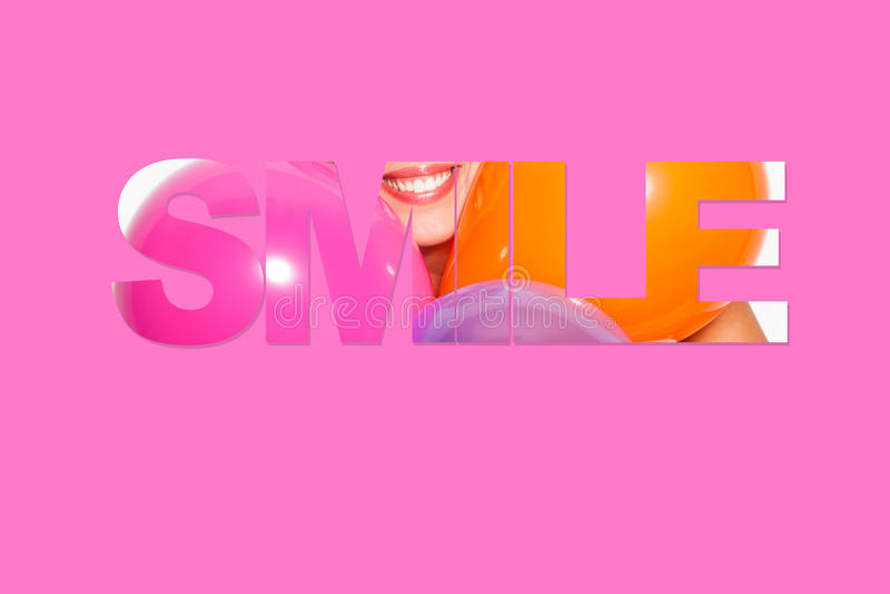 Mooi glimlachmotto stock afbeeldingen