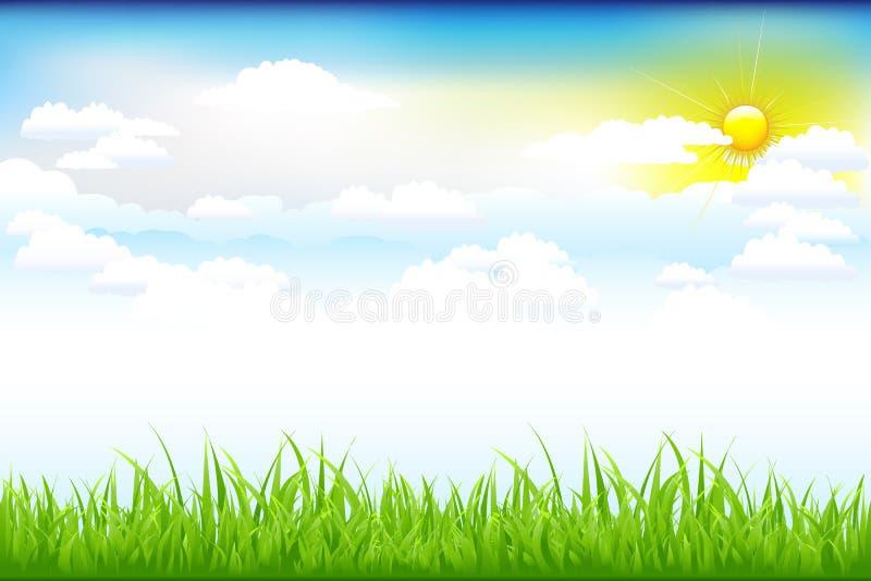 Mooi Groen Landschap met vector illustratie