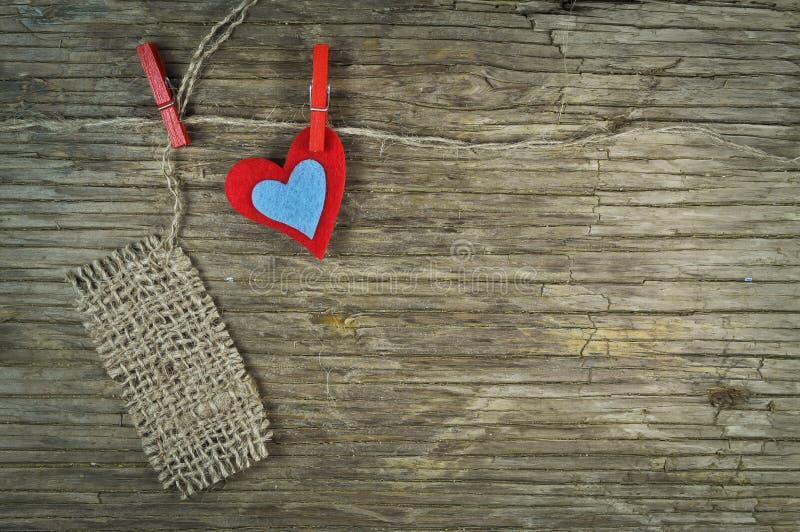 Mooi hart en een nota royalty-vrije stock afbeelding