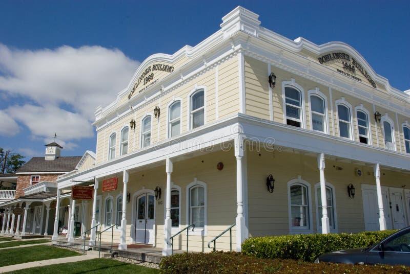 Mooi hersteld oud westelijk Amerikaans blokhuis in Los Olivos, Californië royalty-vrije stock foto